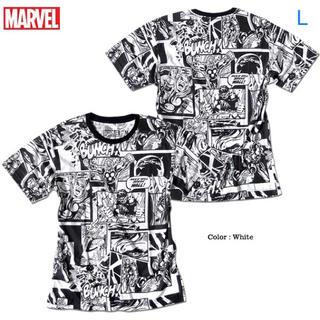 マーベル(MARVEL)のMARVEL コミックス ヒーロー コラージュ Tシャツ Lサイズ 新品(Tシャツ/カットソー(半袖/袖なし))
