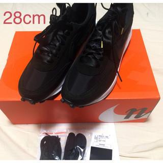 NIKE - Nike x sacai LDWaffle BLACK 28cm