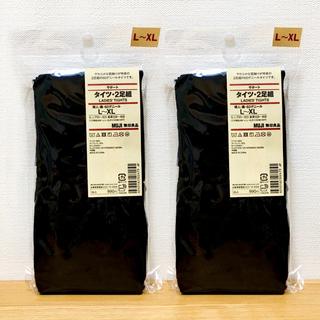 ムジルシリョウヒン(MUJI (無印良品))のタイツ 60D ブラック 黒 L〜XL 無印良品(タイツ/ストッキング)