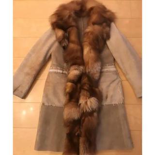 バーニーズニューヨーク(BARNEYS NEW YORK)の毛皮 リアルムートーン イタリア製 ロングコート (毛皮/ファーコート)