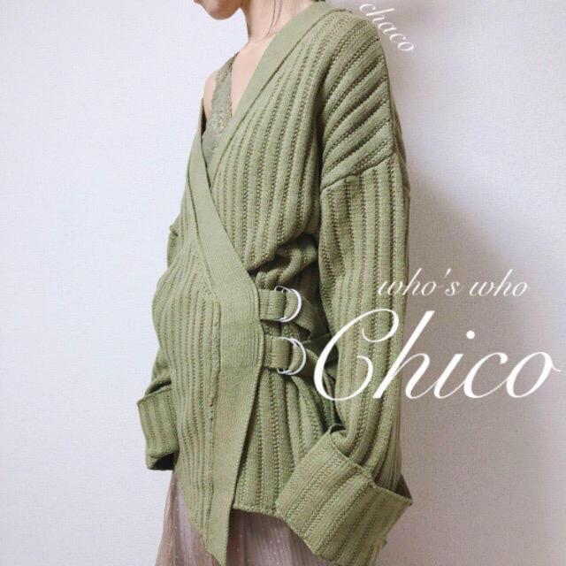who's who Chico(フーズフーチコ)の新品🌷¥7592【Chico】カシュクールカーディガン レディースのトップス(カーディガン)の商品写真