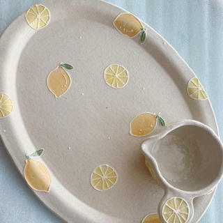 中村佳菜子さんレモンオーバル皿と小鉢