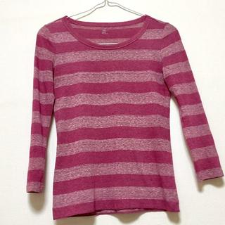 ギャップ(GAP)のGAP ピンク系ボーダー柄 トップス.0920(Tシャツ(長袖/七分))
