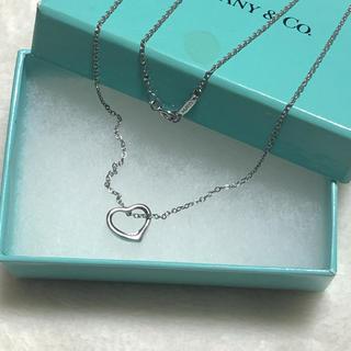 Tiffany & Co. - ティファニー♥Sオープンハートネックレス
