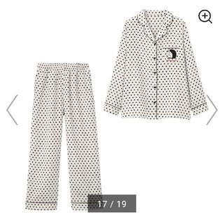 ジーユー(GU)のGU パジャマ ドラえもん 長袖 Lサイズ 白色 水玉(パジャマ)