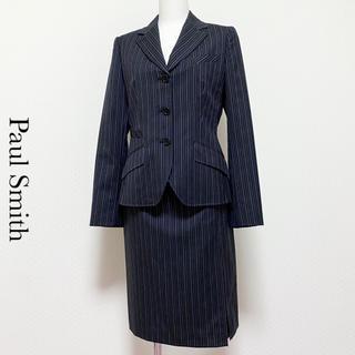 ポールスミス(Paul Smith)のPaul Smith BLACK スカートスーツセットアップ パープルストライプ(スーツ)
