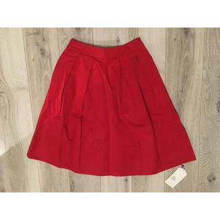 ジエンポリアム(THE EMPORIUM)の新品 未使用 タグ付き ジ エンポリアム フレアスカート 赤 ミニー 春服(ひざ丈スカート)