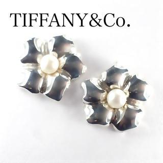 ティファニー(Tiffany & Co.)のレア♡ ティファニー ベビーパール フラワー ピアス シルバー 花 真珠(ピアス)