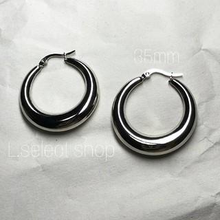 ENFOLD - 372.plump hoop pierce【silver】35mm
