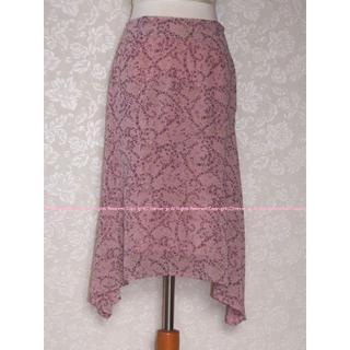 アクシーズファム(axes femme)のイマージュ 小花柄の可憐なアシンメトリースカート M/IMAGE(ロングスカート)