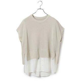 ヴィス(ViS)のフェイクレイヤードプルオーバー(Tシャツ/カットソー(半袖/袖なし))