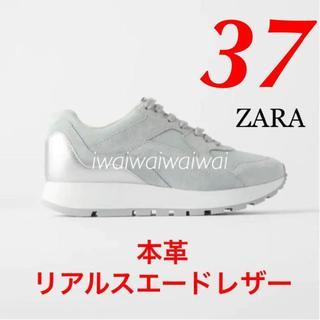 ZARA - 新品 完売品 ZARA 37 スエード レザー スニーカー ※商品説明要確認