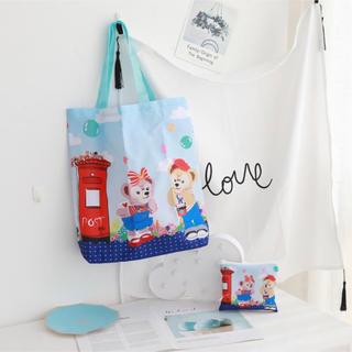 ダッフィー(ダッフィー)の日本未発売 ダッフィーフレンズ エコバッグ お買い物袋 トートバッグ ポスト柄(エコバッグ)