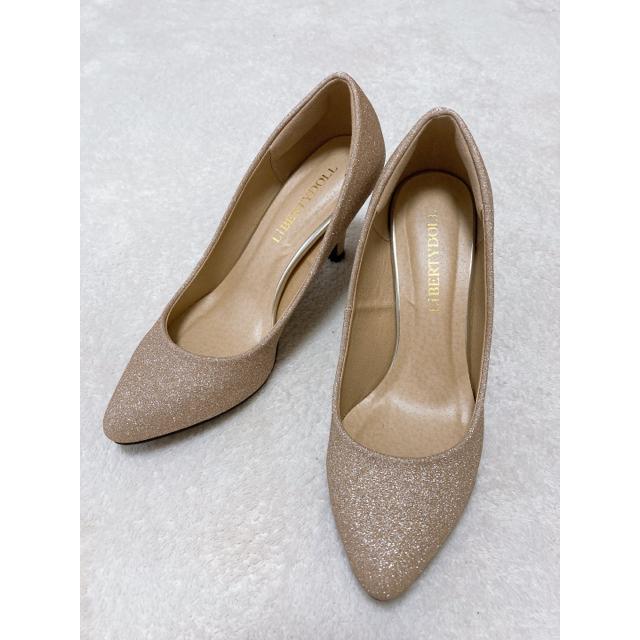 DIANA(ダイアナ)のシャンパンゴールド 足キレイ パンプス レディースの靴/シューズ(ハイヒール/パンプス)の商品写真