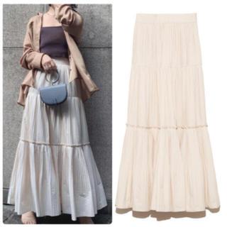 snidel - 完売色🌷新作新品🍀スナイデル ギャザーティアードIラインスカート