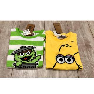 ライトオン(Right-on)の100♡セサミストリート Tシャツ オスカー ビッグバード(Tシャツ/カットソー)
