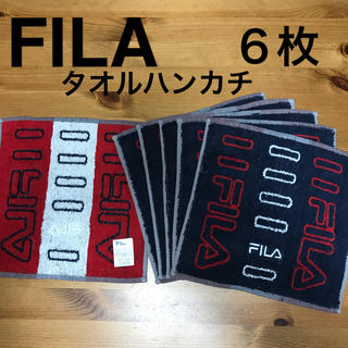 FILA - FILA タオルハンカチ 6枚セット
