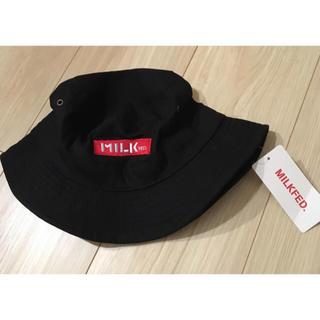 ミルクフェド(MILKFED.)の【新品未使用】Milkfed★embroidery bar hat★black(ハット)