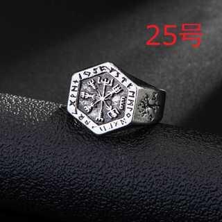 レトロ ヴィンテージ シルバー リング 指輪 海賊 方位磁針 25号(リング(指輪))