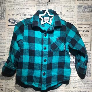 ジャンクストアー(JUNK STORE)のJUNK STORE ジャンクストア ブロックチェックシャツ サイズ90(Tシャツ/カットソー)