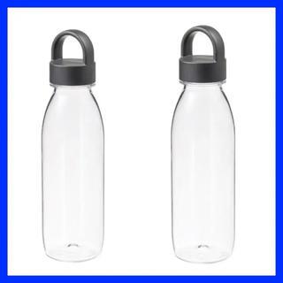 イケア(IKEA)のIKEA 365+ 水筒 ダークグレー 2つ (水筒)