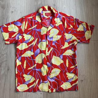 Supreme - Supreme Lily Rayon Shirts Red