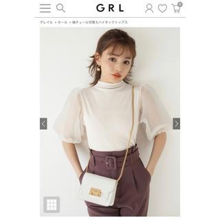 GRL - 袖チュール切替えハイネックトップス【GRL】