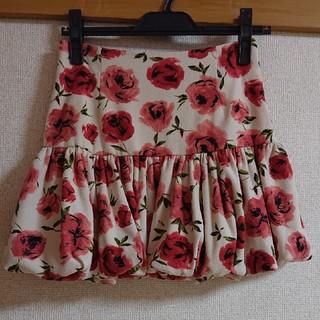 シエラレオン(SIERA LEONE)の【SIERA LEONE】薔薇柄バルーンミニスカート(ミニスカート)