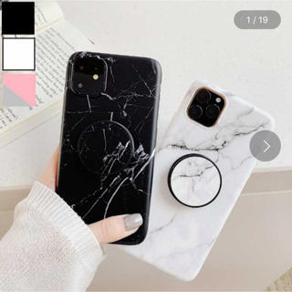 iPhoneケース 大理石 エアバッグ付き