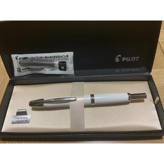 パイロット(PILOT)のPILOT キャップレス 万年筆 絣 ホワイト 白(ペン/マーカー)