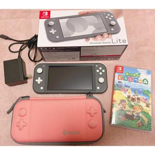 Nintendo Switch - ♡ switch light & あつ森ソフト セット♡
