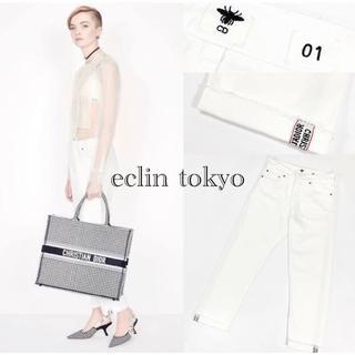 Christian Dior - ディオール 《モデル着用》ボーイフレンド 白 デニム パンツ E2322