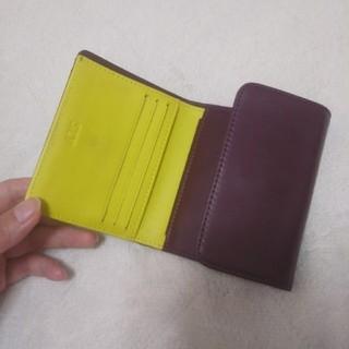 スライ(SLY)のSLY mini wallet バイカラー 折り財布 本革(財布)