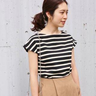 IENA - 【IENA】ボーダーフレンチスリーブTシャツ フリーサイズ