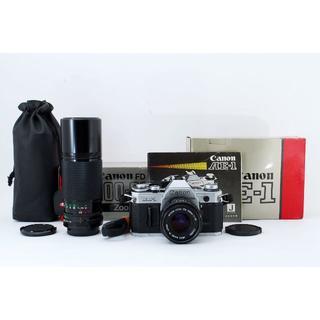 キヤノン(Canon)の キャノン Canon AE-1 ボディ シルバー 他レンズ2本(フィルムカメラ)