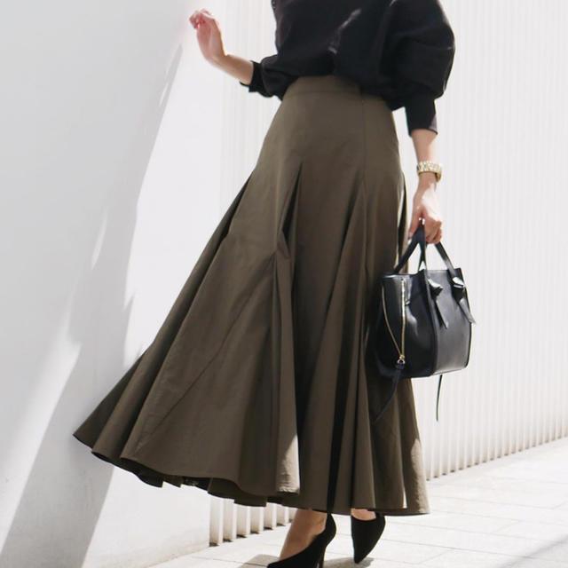 rienda(リエンダ)のボリュームフレアロングスカート レディースのスカート(ロングスカート)の商品写真