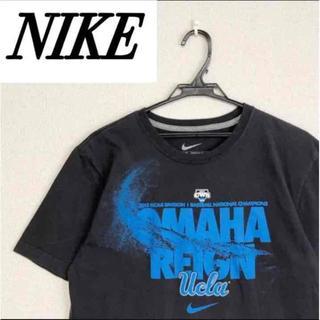 ナイキ(NIKE)のNIKE⭐️ナイキ デカロゴ ブランド 古着 メンズ 黒 半袖 Tシャツ(Tシャツ/カットソー(半袖/袖なし))