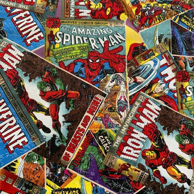 MARVEL(マーベル)の【値下げ】マーベル 生地269  アメリカ製 スパイダーマン キャプテンアメリカ ハンドメイドの素材/材料(生地/糸)の商品写真