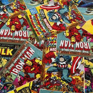 マーベル(MARVEL)の【値下げ】マーベル 生地269  アメリカ製 スパイダーマン キャプテンアメリカ(生地/糸)