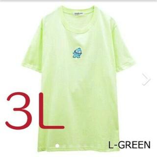 サンリオ(サンリオ)のサンリオハンギョドンワンポイント 刺繍Tシャツサイズ  3L(Tシャツ(半袖/袖なし))