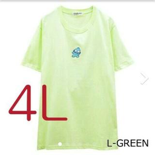 サンリオ(サンリオ)のサンリオハンギョドンワンポイント 刺繍Tシャツサイズ  4L(Tシャツ(半袖/袖なし))