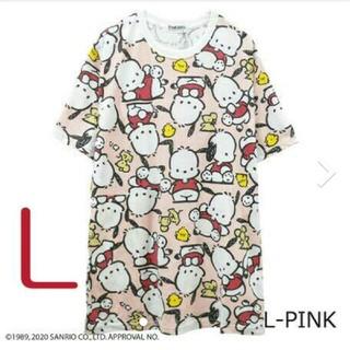 サンリオ(サンリオ)の2020新作 ポチャコ 総柄 Tシャツサイズ L(Tシャツ(半袖/袖なし))