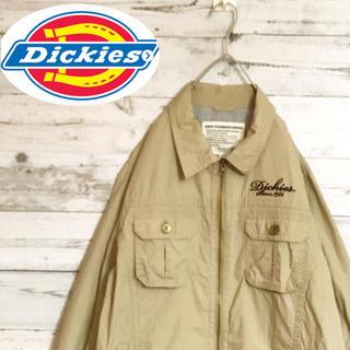 ディッキーズ(Dickies)の90s古着ディッキーズDikiesミリタリージャケットベージュフルジップフルジョ(ミリタリージャケット)
