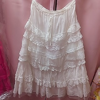 ピンクハウス(PINK HOUSE)のミディ丈スカート♡(ひざ丈スカート)