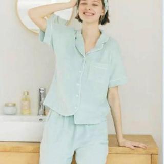 GU×SABON パイルパジャマ 半袖 Mint S ライトグリーン