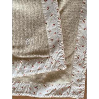 ラルフローレン(Ralph Lauren)の美品 ラルフローレン ハーフコットンケット ブランケット 毛布 ひざ掛け(毛布)