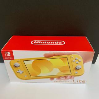 ニンテンドースイッチ(Nintendo Switch)の店舗印なし 新品未使用 任天堂 Switch Lite 当日発送可 イエロー(家庭用ゲーム機本体)