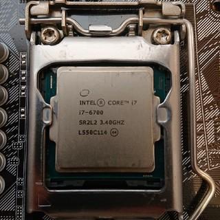 エイスース(ASUS)のintel core i7 6700 + ASUS H170 pro セット(PCパーツ)