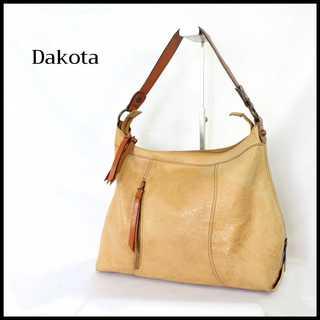 Dakota - ダコタ★カービングレザー調 ワンショルダー バッグ キャメル ヴィンテージ風