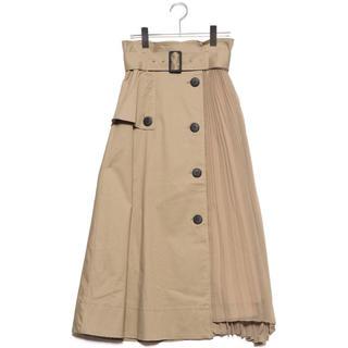 スナイデル(snidel)のスナイデル スイッチングスカート トレンチ スカート(ひざ丈スカート)
